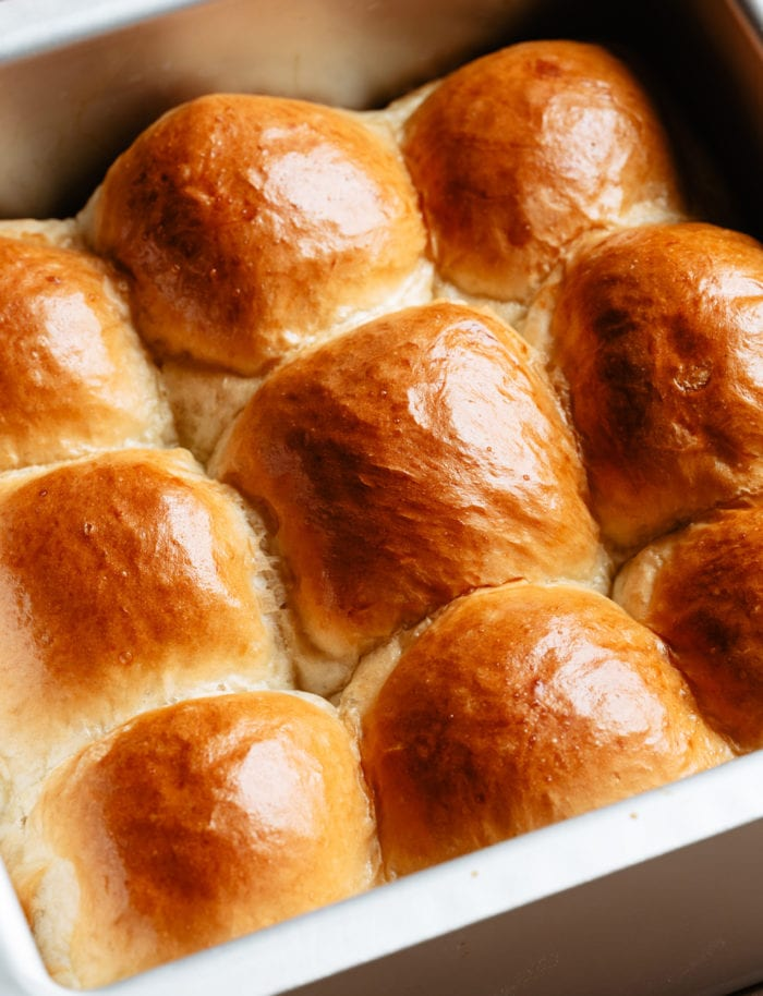 photo of the rolls in a baking dish