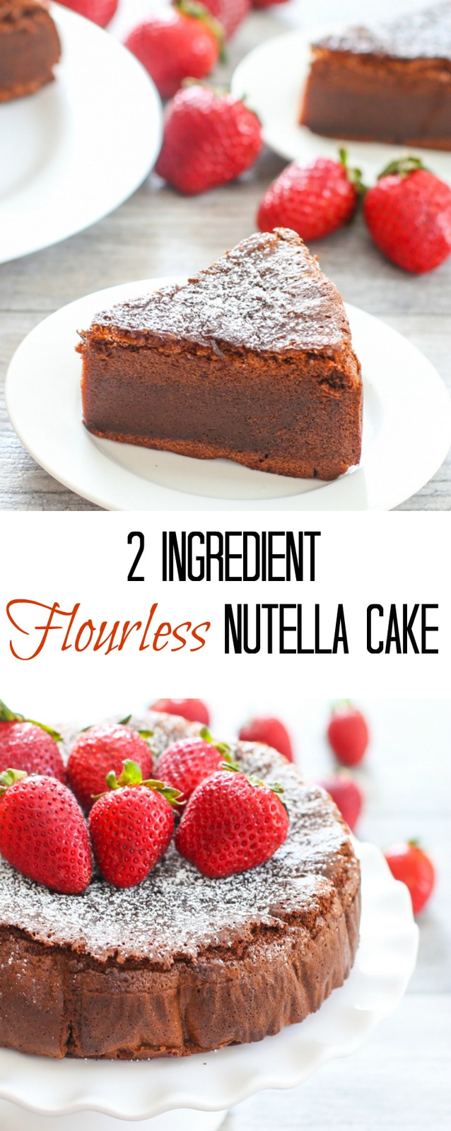 2 Ingredient Flourless Nutella Cake. Gluten free too!