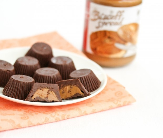 Cookie Butter Chocolate Candy Cups