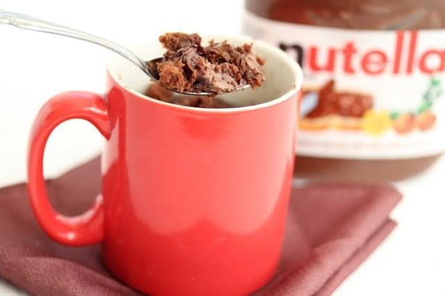 Nutella lava brownie mug cake - Kirbie's Cravings