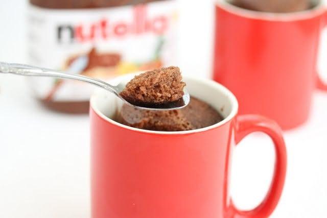 Pure Nutella Mug Cake - Kirbie's Cravings