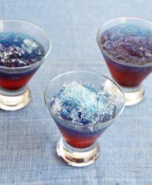 photo of three snow cone drinks