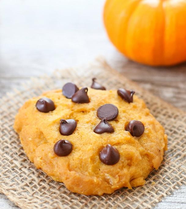 photo of single Microwave Pumpkin Chocolate Chip Cookie
