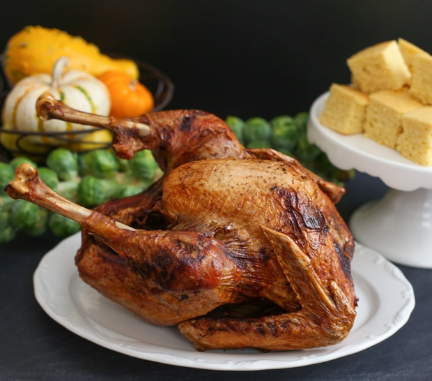photo of a deep fried turkey