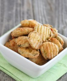 photo of a bowl of fried pickles