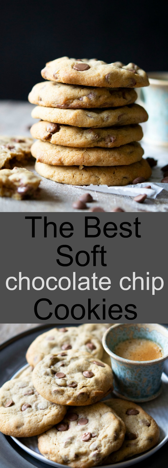 Thick and soft chocolate chip cookies. This is my go-to recipe forsoft cookies.