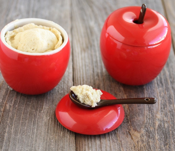 photo of a spoonful of apple cake