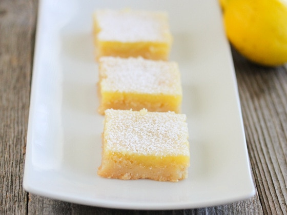 close-up photo of lemon bars