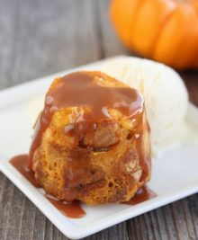 Pumpkin Bread Pudding Mug Cake