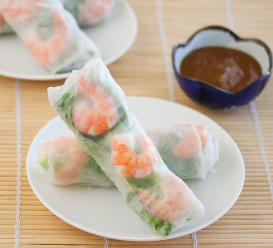 Fresh Vietnamese Shrimp Spring Rolls (with step by step