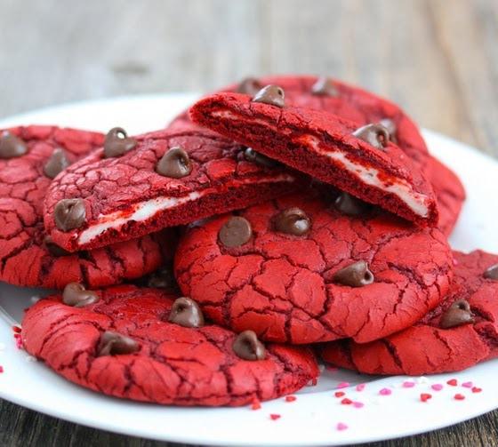 Red Velvet And Cream Cheese Cookies Kirbie S Cravings