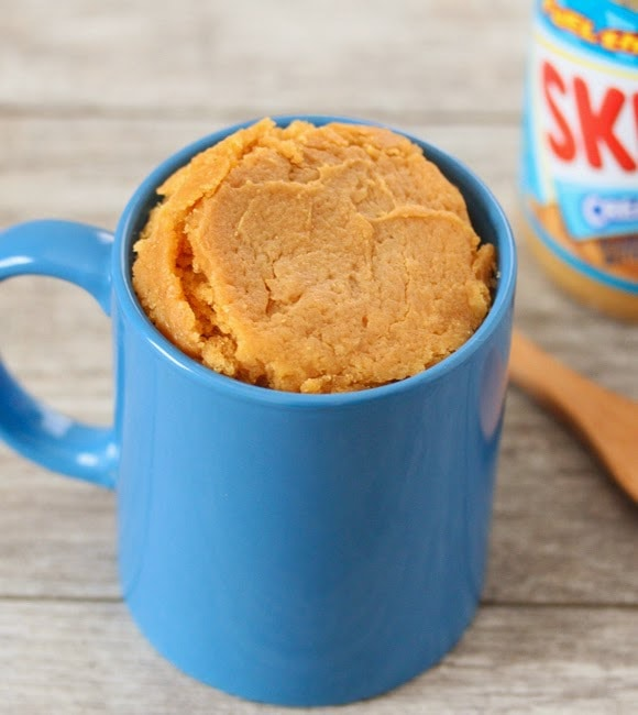 Cake At Home Eggless : Peanut Butter Mug Cake (Eggless) - Kirbie s Cravings