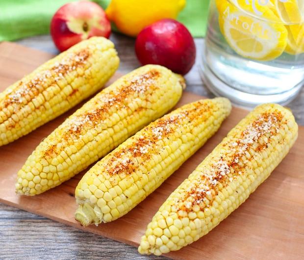 Parmesan Chipotle Corn on the Cob - Kirbie's Cravings