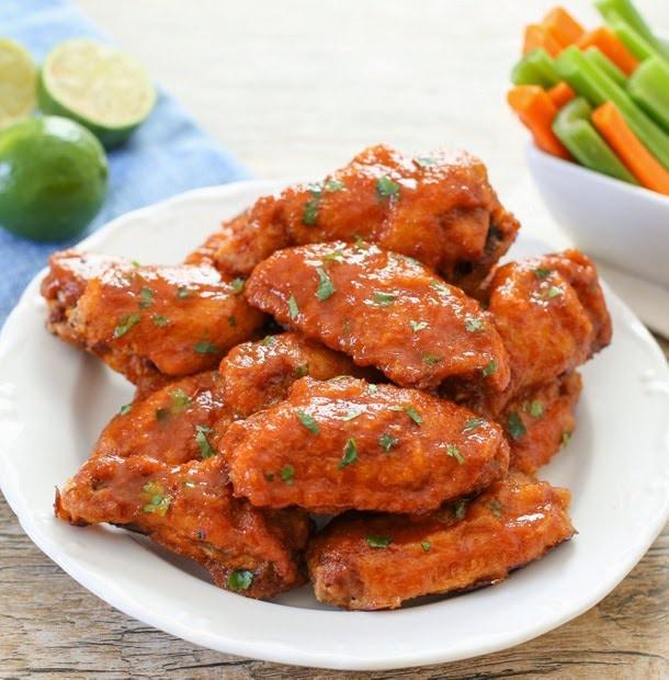 Sriracha Buffalo Wings - Kirbie's Cravings