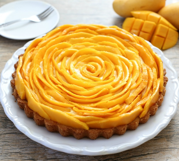 Mango Mousse Tart | Kirbie's Cravings | A San Diego food & travel blog