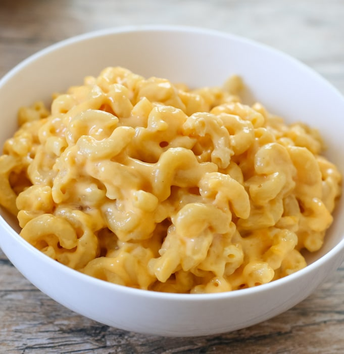 photo of a bowl of macaroni and cheese