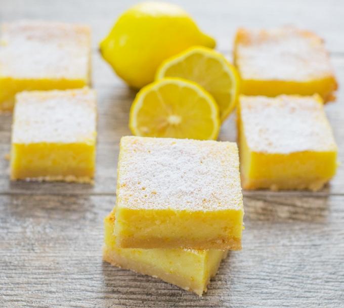 photo of whole lemon bars