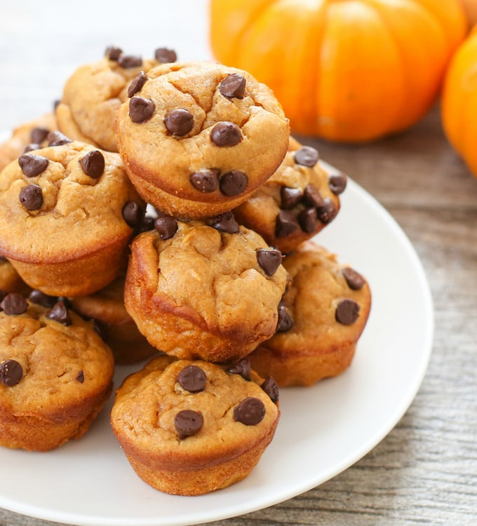 photo of the muffins piled on a plate