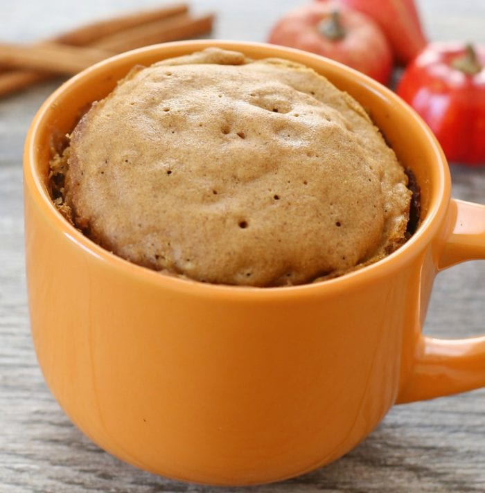 photo of the mug cake without the topping