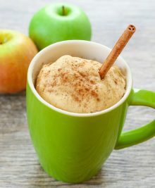 photo of apple spice mug cake