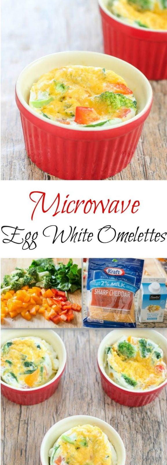 Microwave Egg White Omelets