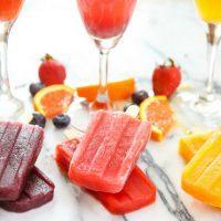 photo of mimosa ice pops