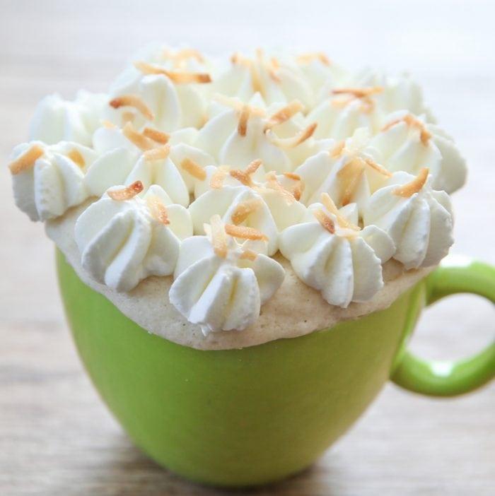 photo of a coconut mug cake