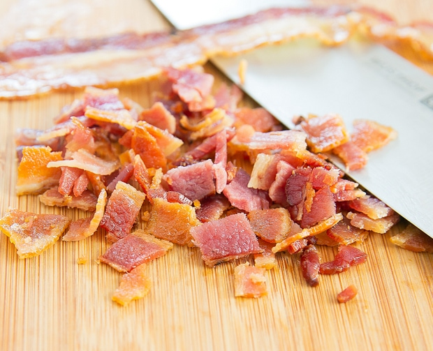 process photo of chopped bacon