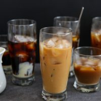photo of glasses of cold brew coffee