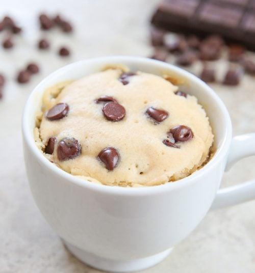 photo of chocolate chip mug cake