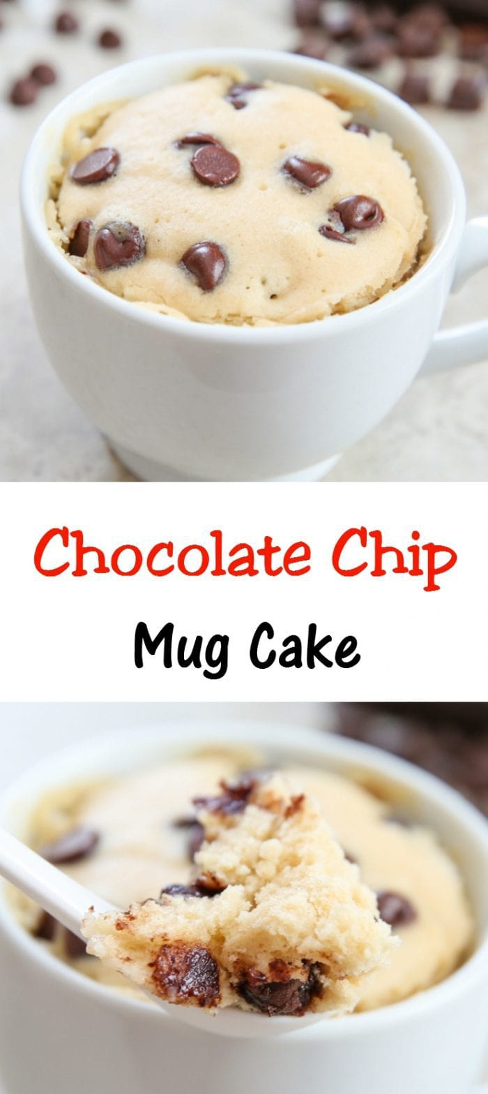 Chocolate Chip Mug Cake Kirbie S Cravings