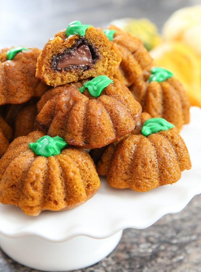 pumpkin nutella cakes