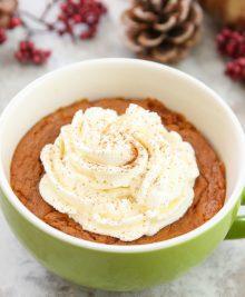 pumpkin peanut butter pie mug cake