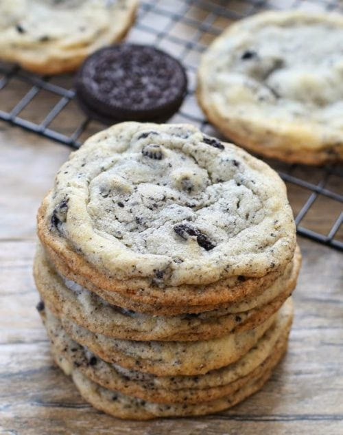 Chewy Cookies and Cream Oreo Cookies