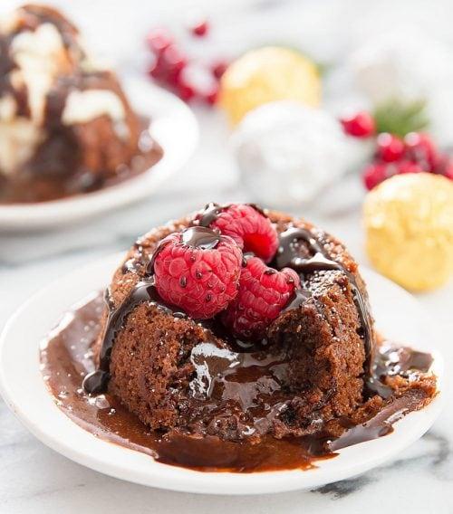 photo of a nutella lava cake