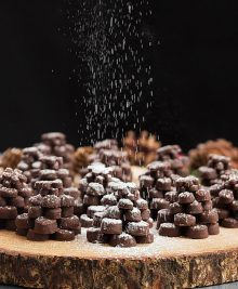 chocolate pinecone shortbread cookies