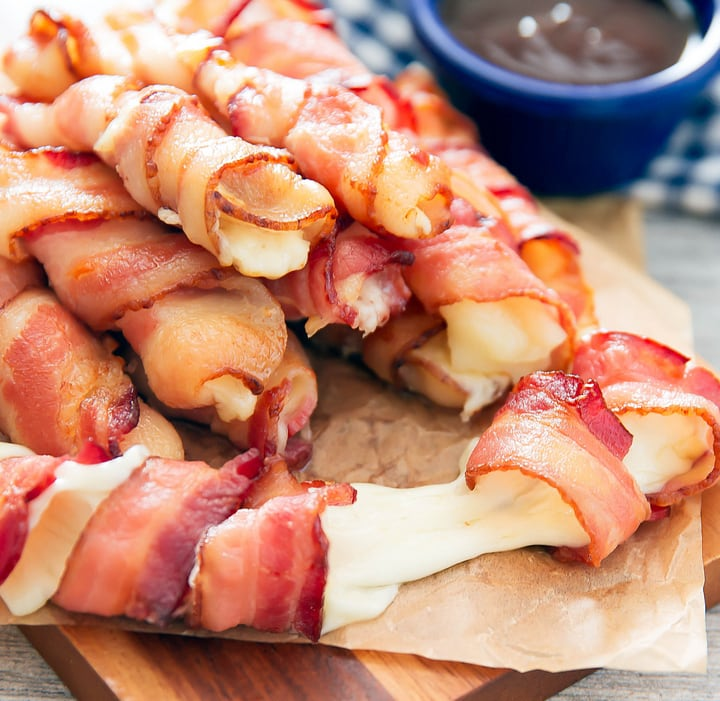 Bacon Wrapped Cheese Sticks Kirbie S Cravings