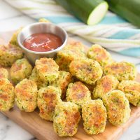 photo of a platter of zucchini tots