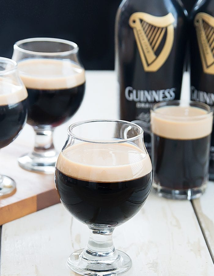 photo of guinness jello with Irish cream