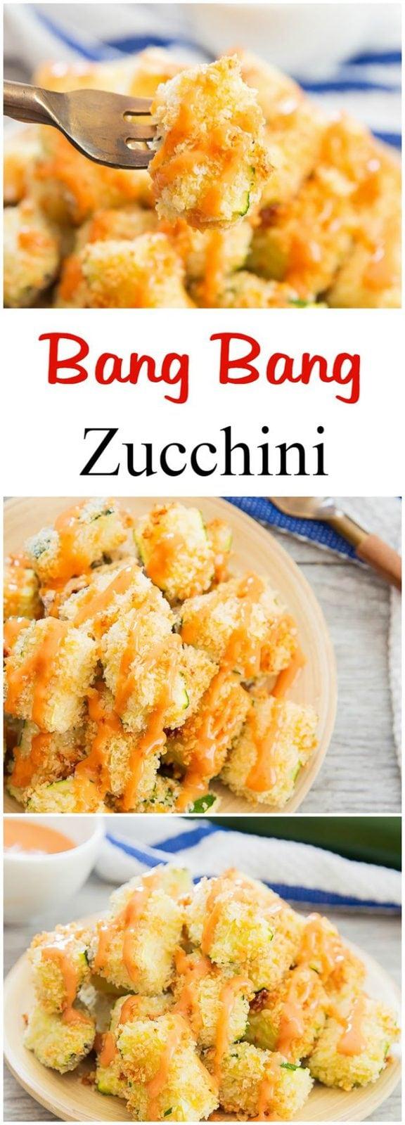 Bang Bang Baked Zucchini