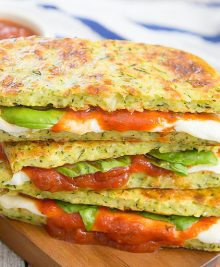 zucchini crusted pizza grilled cheese