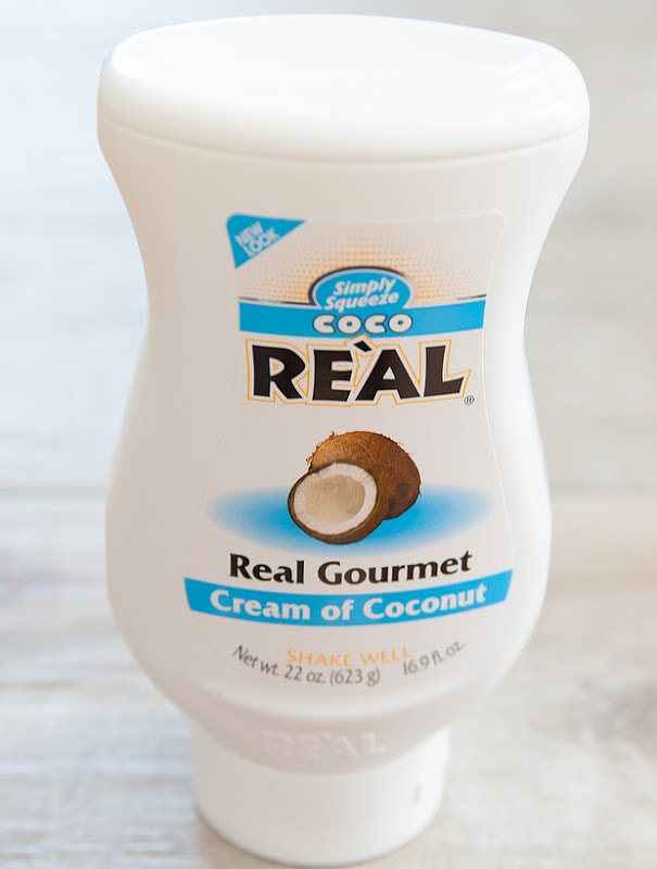 photo of a bottle of creme of coconut