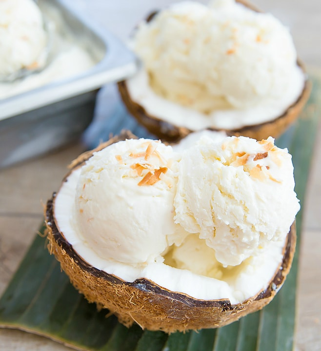 2 Ingredient No Churn Coconut Ice Cream