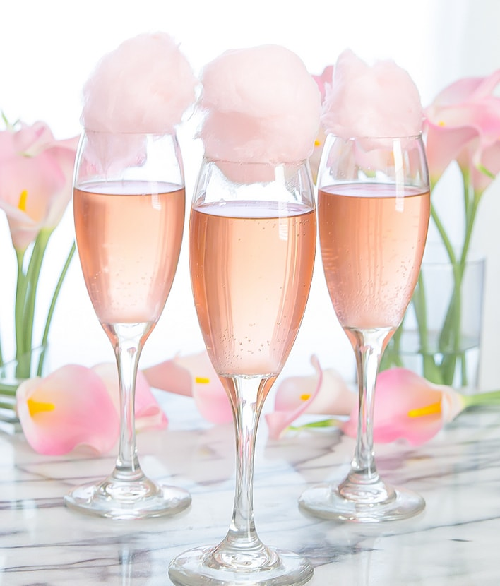 Cotton Candy Champagne Cocktails Kirbie S Cravings