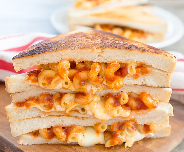 Spaghetti Grilled Cheese Sandwiches - Kirbie's Cravings