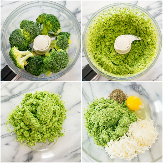 step by step process for making broccoli crust