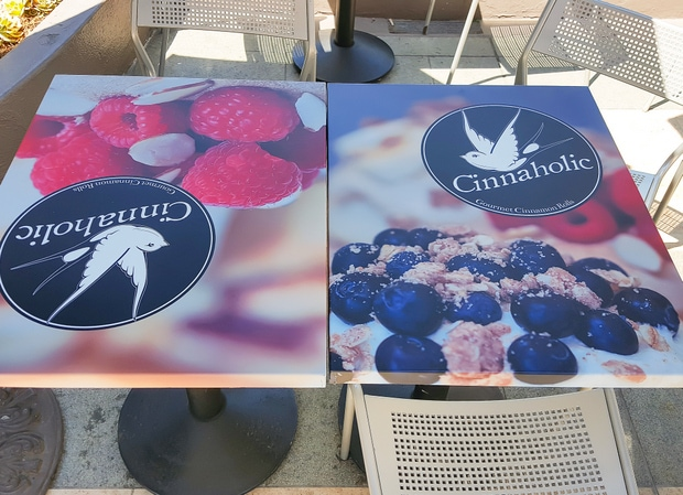 photo of the table tops