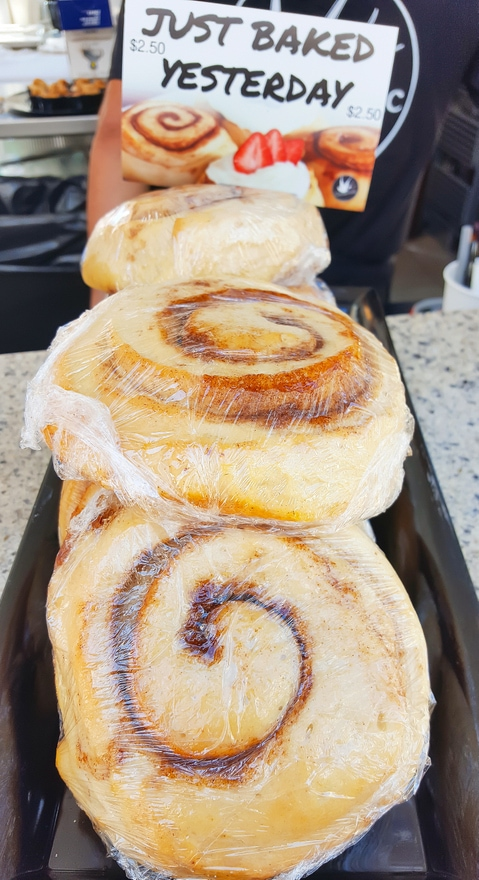 photo of cinnamon rolls at Cinnaholic