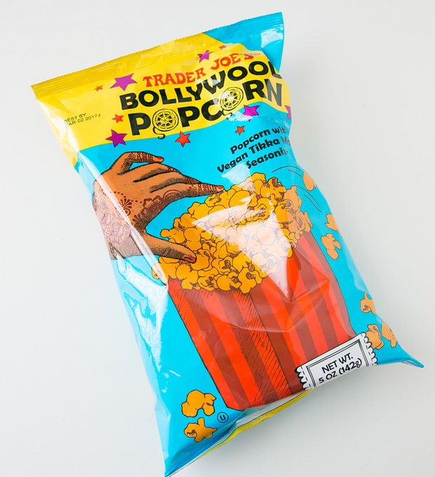 photo of a package of Bollywood Popcorn