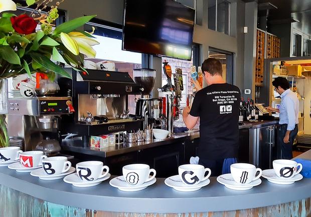 photo of the coffee bar at Ambrogio15
